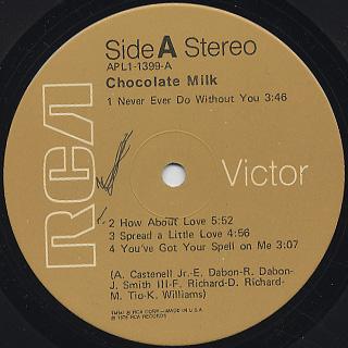 Chocolate Milk / S.T. label