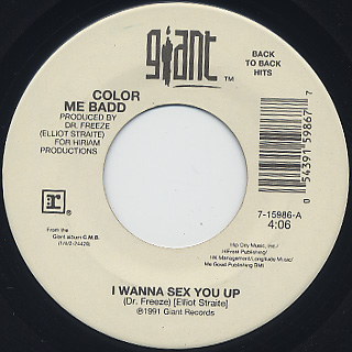 Color Me Badd / I Wanna Sex You Up c/w Thinkin' Back