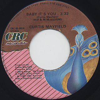 Curtis Mayfield / Baby It's You (45)