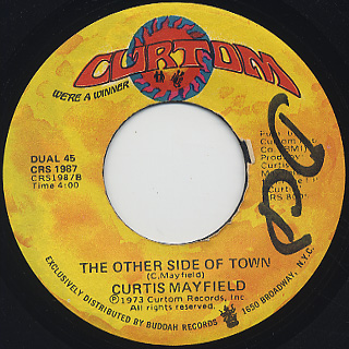 Curtis Mayfield / Future Shock c/w The Other Side Of Town back