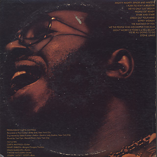 Curtis Mayfield / Live! back