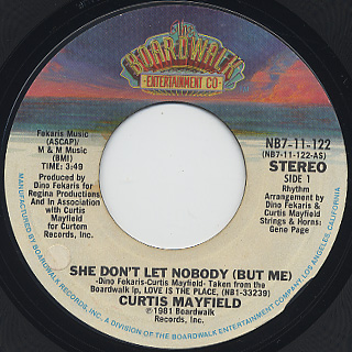 Curtis Mayfield / She Don't Let Nobody(But Me)