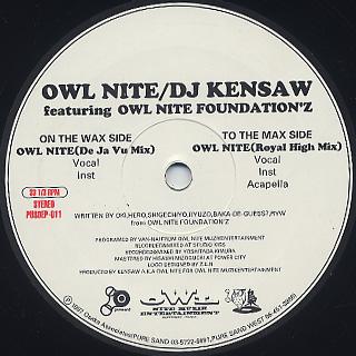 DJ Kensaw / Owl Nite label