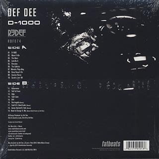 Def Dee / D-1000 back
