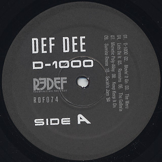 Def Dee / D-1000 label