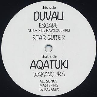 Duvali / Escape / Star Guitar c/w Aquatuki / Wakanoura