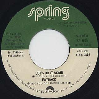 Fatback / Let's Do It Again (7