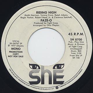Faze-O / Riding High (45) back