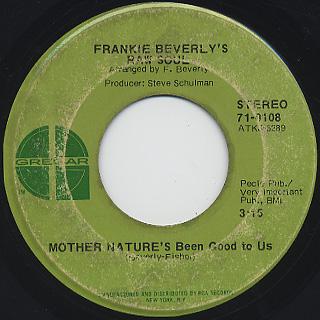 Frankie Beverly's Raw Soul / Color Blind back