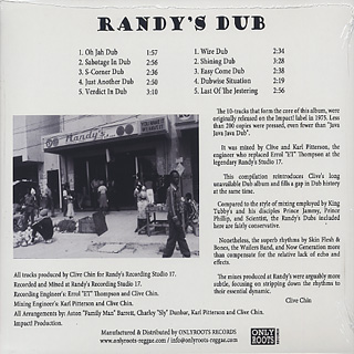 Impact All Stars, Clive Chin / Randy's Dub back