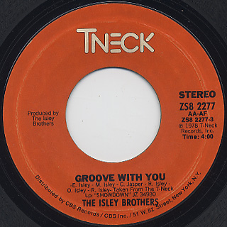 Isley Brothers / Footstep In The Dark c/w Groove With You back