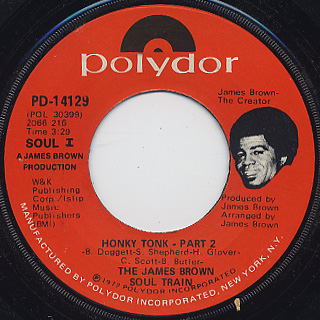 James Brown Soul Train / Honky Tonk back
