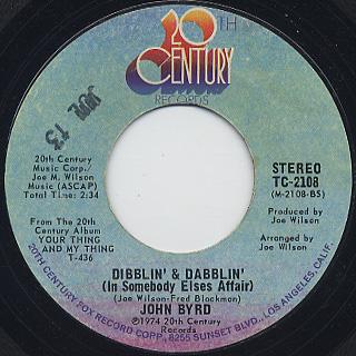 John Byrd / I Can't Stop Loving You, Girl back