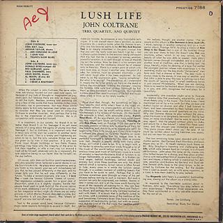 John Coltrane / Lush Life back