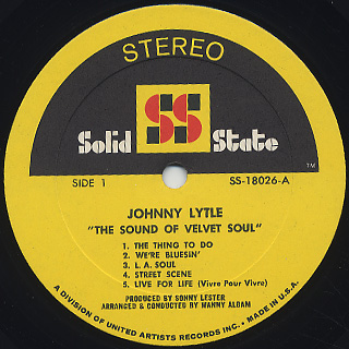 Johnny Lytle / The Sound Of Velvet Soul label