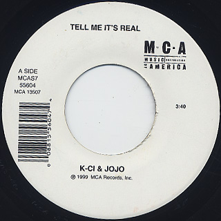 K-Ci & JoJo / Tell Me It's Real c/w All My Life