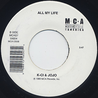 K-Ci & JoJo / Tell Me It's Real c/w All My Life back