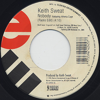 Keith Sweat / Nobody c/w In The Mood
