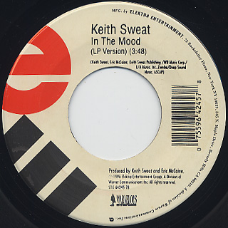 Keith Sweat / Nobody c/w In The Mood back