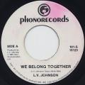 L.V. Johnson / We Belong Together c/w Danny Boy