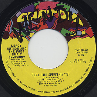 Leroy Hutson And The Free Spirit Symphony / Feel The Spirit (In '76)