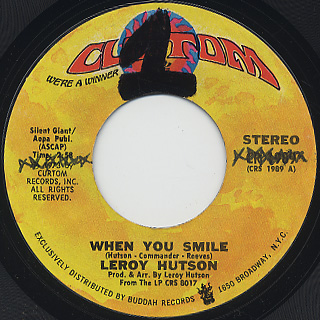 Leroy Hutson / When You Smile c/w Getting It On