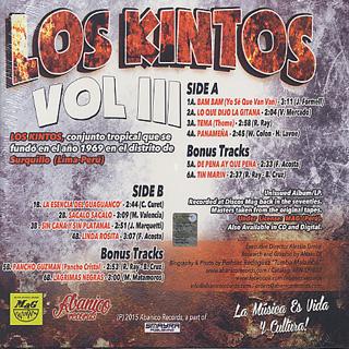 Los Kintos / Vol III back