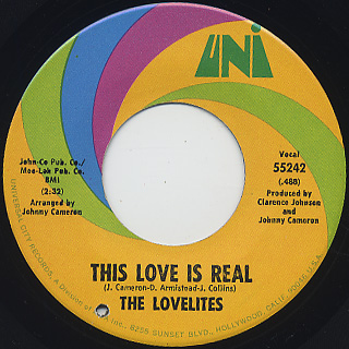 Lovelites / This Love Is Real c/w Oh My Love
