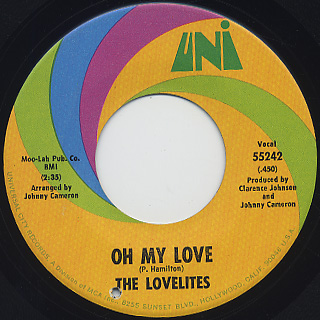 Lovelites / This Love Is Real c/w Oh My Love back