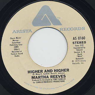 Martha Reeves / Higher And Higher c/w Now That We Found Love