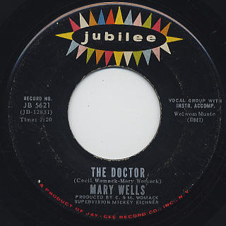 Mary Wells / The Doctor c/w Two Lovers History back