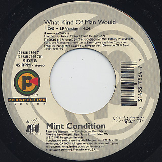 Mint Condition / You Don't Have To Hurt No More back