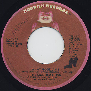 Modulations / I'm Hopelessly In Love c/w What Good Am I back
