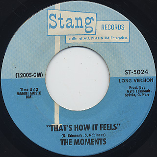 Moments / That's How It Feels
