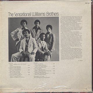 Sensetional Williams Brothers / What's Wrong With The People Today back