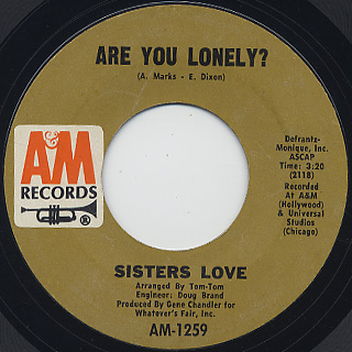Sisters Love / Are You Lonely? c/w Ring Once