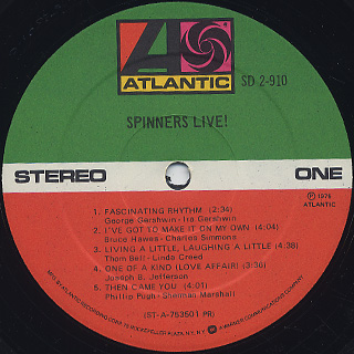 Spinners / Live! label