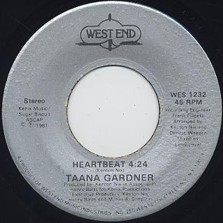 Taana Gardner / Heartbeat (45) back