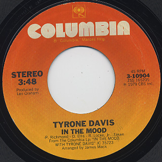 Tyron Davis / In The Mood front