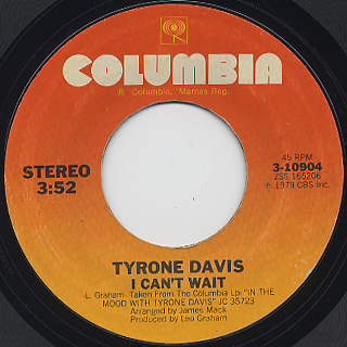 Tyron Davis / In The Mood back