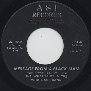 Whatnauts & The Whatnaut Band / Message From A Black Man