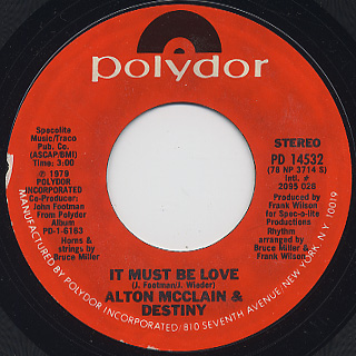 Alton McClain And Destiny / It Must Be Love (7