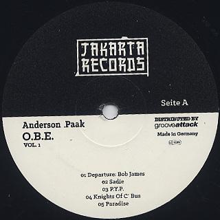 Anderson .Paak / O.B.E. vol.1 label
