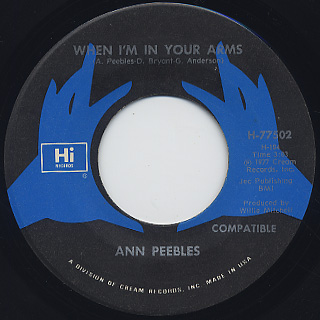 Ann Peebles / If This Is Heaven c/w When I'm In Your Arms
