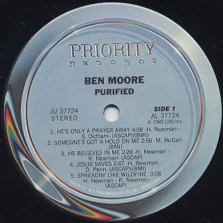 Ben Moore / Purified label