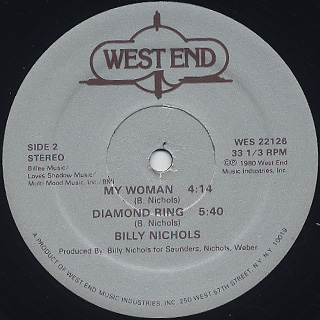 Billy Nichols / Diamond Ring back