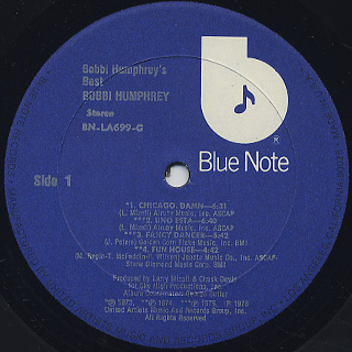 Bobbi Humphrey / Bobbi Humphrey's Best label