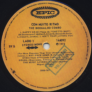 Boogaloo Combo / Com Muito Ritmo label