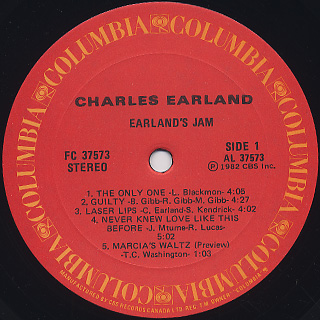 Charles Earland / Earland's Jam label