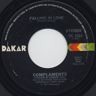 Complaments / Falling In Love c/w Chickens